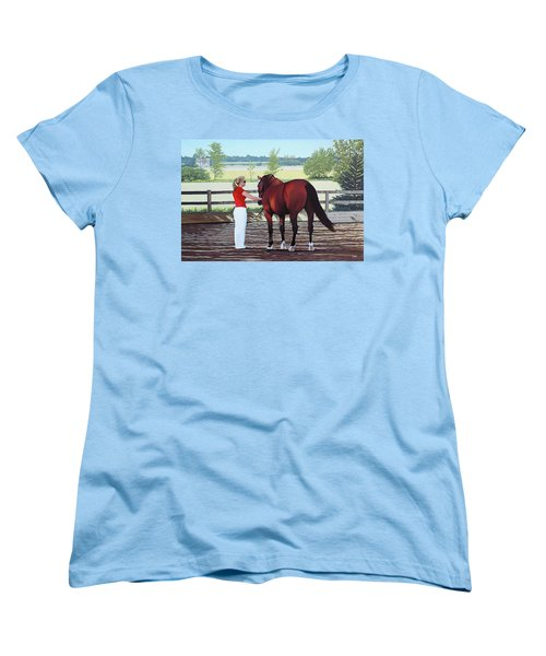 Women's T-Shirt (Standard Cut) featuring the painting Mirage Of Wassini by Kenneth  Kirsch