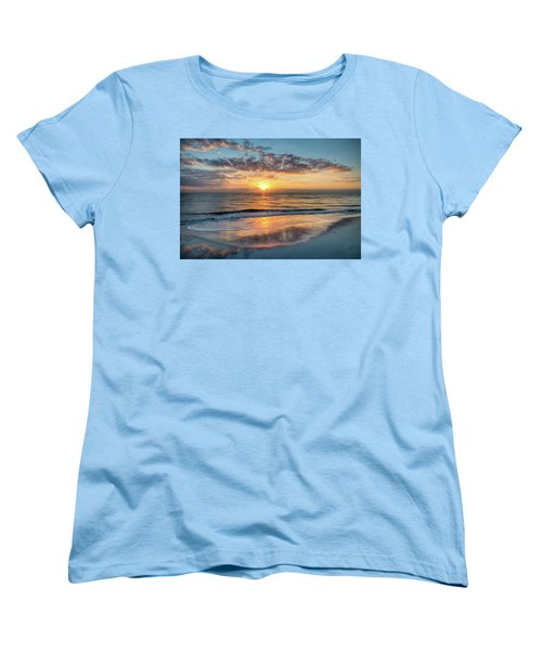 Women's T-Shirt (Standard Cut) featuring the photograph Mirror At Sunrise by Debra and Dave Vanderlaan