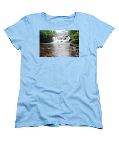 Women's T-Shirt (Standard Cut) featuring the photograph Mirror Lake Falls 2 by Renee Hardison