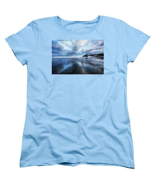 Women's T-Shirt (Standard Cut) featuring the photograph Mirror Of Light by Debra and Dave Vanderlaan