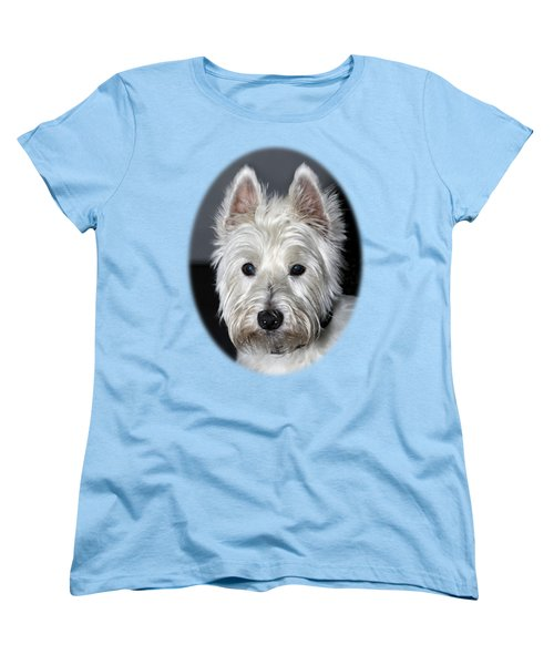 Mischievous Westie Dog Women's T-Shirt (Standard Cut) by Bob Slitzan