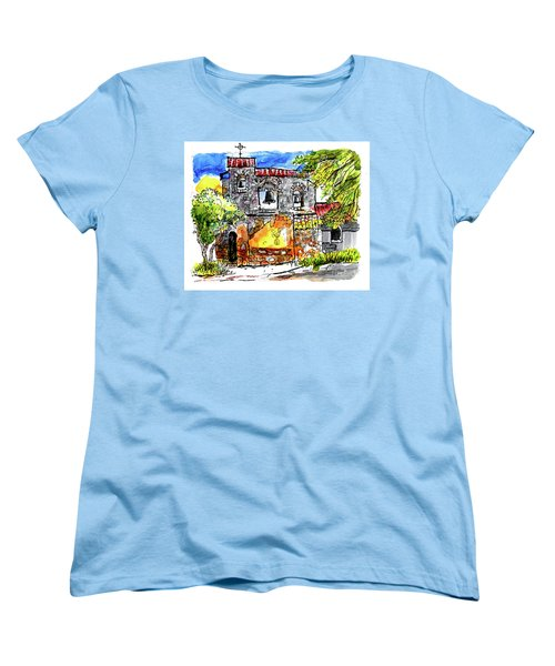 Women's T-Shirt (Standard Cut) featuring the painting Mission San Miguel by Terry Banderas