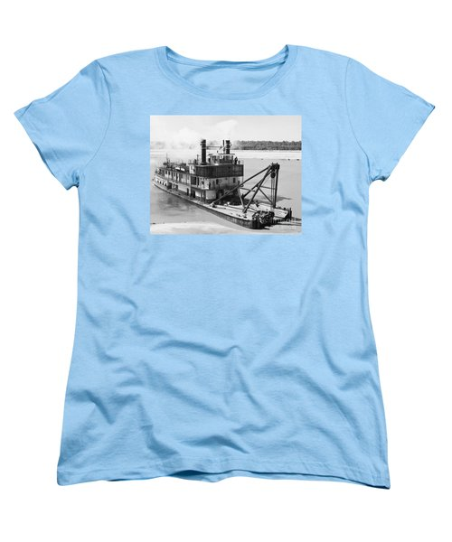 Women's T-Shirt (Standard Cut) featuring the photograph Mississippi River Snag Boat by Granger