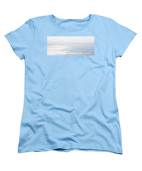 Misty Beach Morning  Women's T-Shirt (Standard Cut) by Nicholas Burningham
