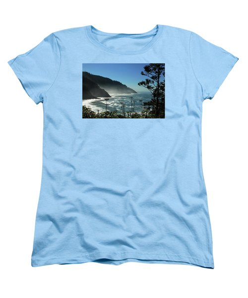 Misty Coast At Heceta Head Women's T-Shirt (Standard Cut)
