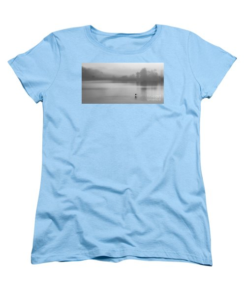 Misty Morning On The Lake Women's T-Shirt (Standard Cut) by Linsey Williams