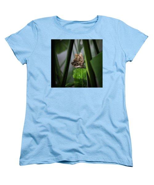 Women's T-Shirt (Standard Cut) featuring the photograph Misty Morning Owl by Karen Wiles