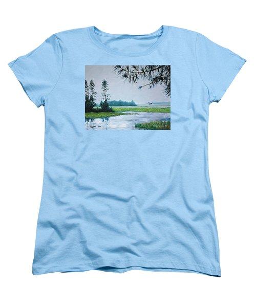 Misty Morning Women's T-Shirt (Standard Cut) by Stanton Allaben