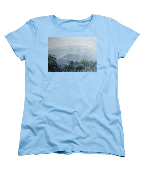 Misty Shenandoah Women's T-Shirt (Standard Cut) by Donna Walsh