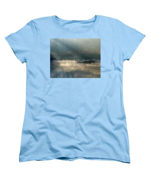 Women's T-Shirt (Standard Cut) featuring the photograph Misty Sunrise by George Randy Bass
