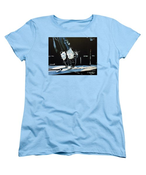 Mj On His Toes Women's T-Shirt (Standard Cut) by Tom Riggs
