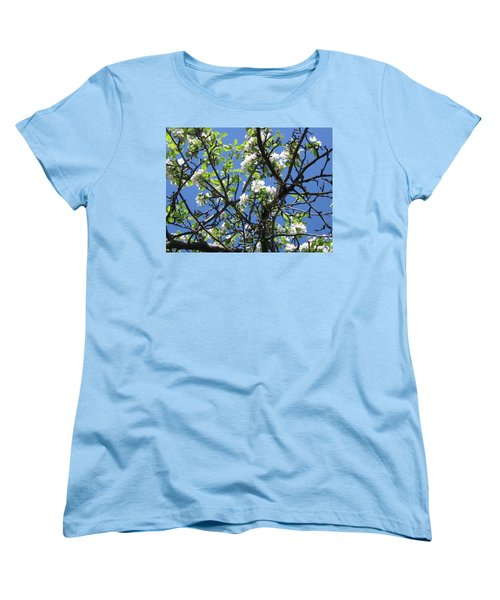 Women's T-Shirt (Standard Cut) featuring the photograph Mn Apple Blossoms by Barbara Yearty