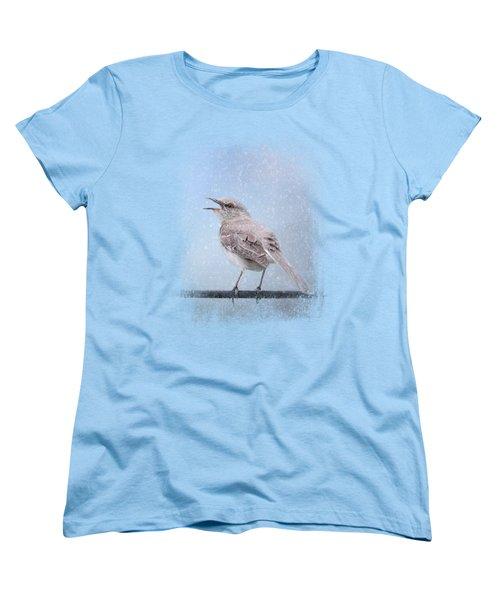Mockingbird In The Snow Women's T-Shirt (Standard Cut) by Jai Johnson