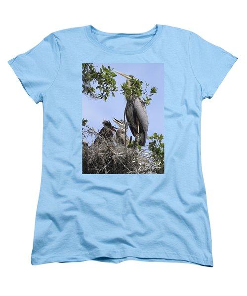 Mom And Babies Women's T-Shirt (Standard Cut) by Deborah Benoit