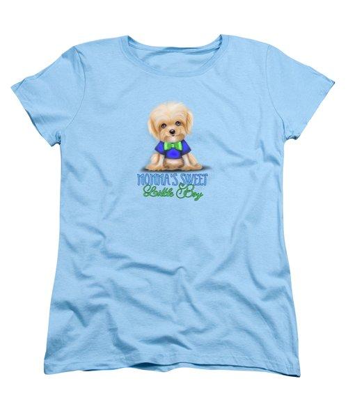 Mommas Sweet Little Boy Women's T-Shirt (Standard Cut) by Catia Cho