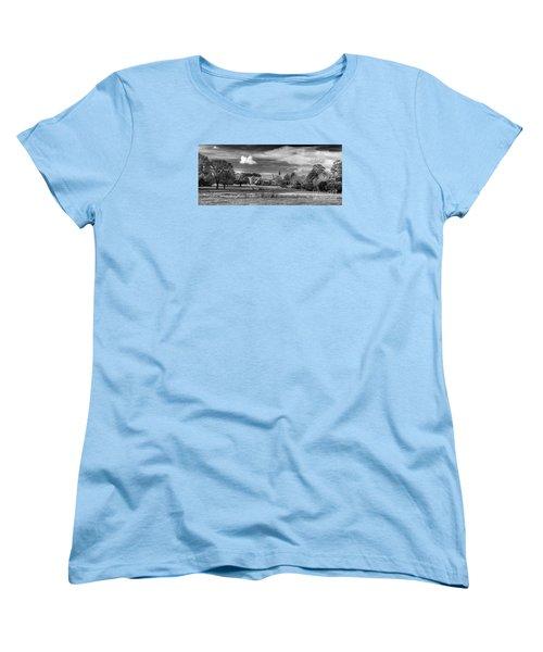 Monasterio Trapense De Azul Women's T-Shirt (Standard Cut) by Bernardo Galmarini
