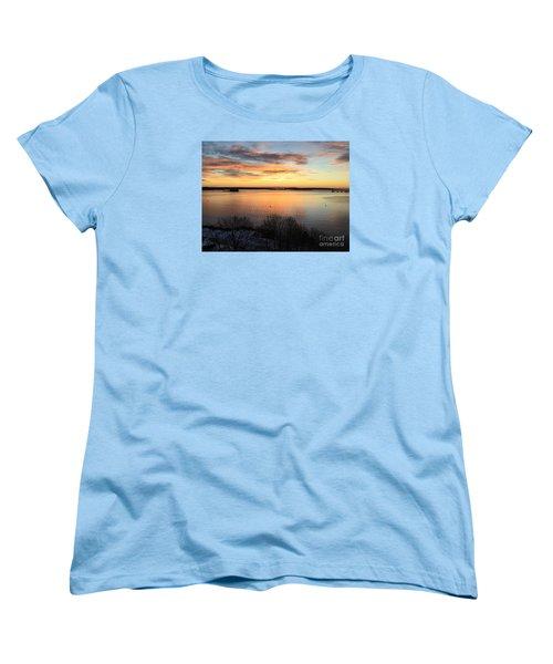 Monday, Monday Sunrise January 25, 2016 Women's T-Shirt (Standard Cut) by Patricia E Sundik