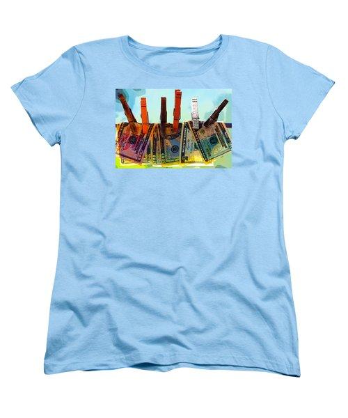 Money Laundering  Women's T-Shirt (Standard Cut) by Karon Melillo DeVega