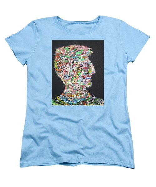 Women's T-Shirt (Standard Cut) featuring the painting Money,sex And Power by Fabrizio Cassetta