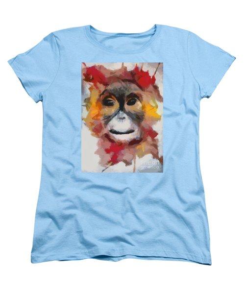 Monkey Splat Women's T-Shirt (Standard Cut) by Catherine Lott
