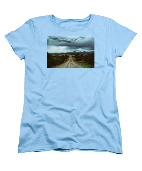 Monsoons From The Meadows Women's T-Shirt (Standard Cut) by Jason Coward