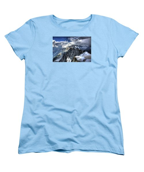 Women's T-Shirt (Standard Cut) featuring the photograph Mont Blanc Near Chamonix In French Alps by Shawn Everhart
