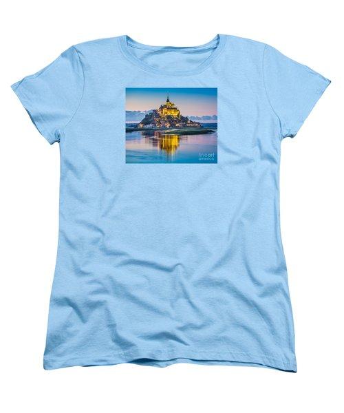 Mont Saint-michel In Twilight Women's T-Shirt (Standard Cut) by JR Photography