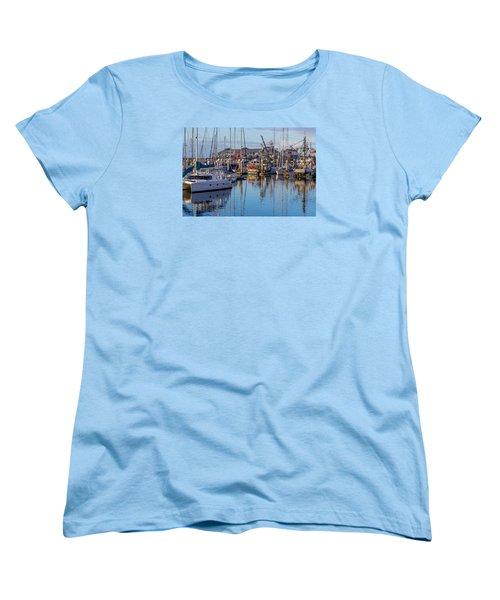 Monterey Marina Afternoon Women's T-Shirt (Standard Cut) by Derek Dean