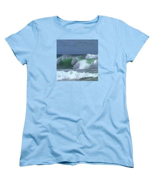 Monterey Surf Women's T-Shirt (Standard Cut) by Walter Chamberlain