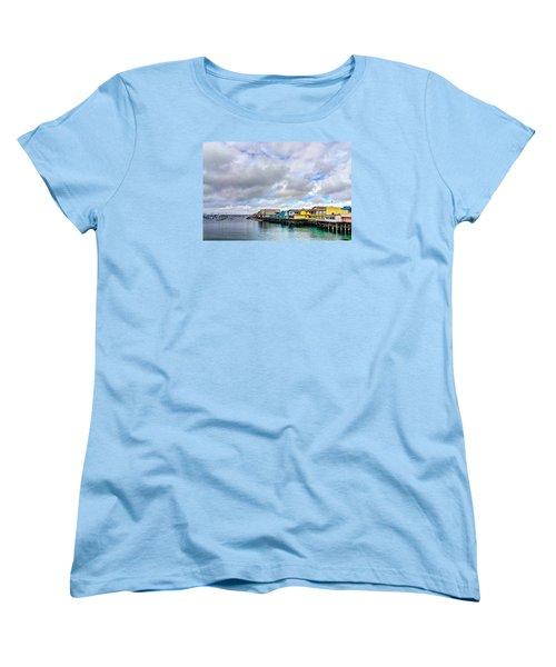 Monterey Wharf  Women's T-Shirt (Standard Cut) by Derek Dean