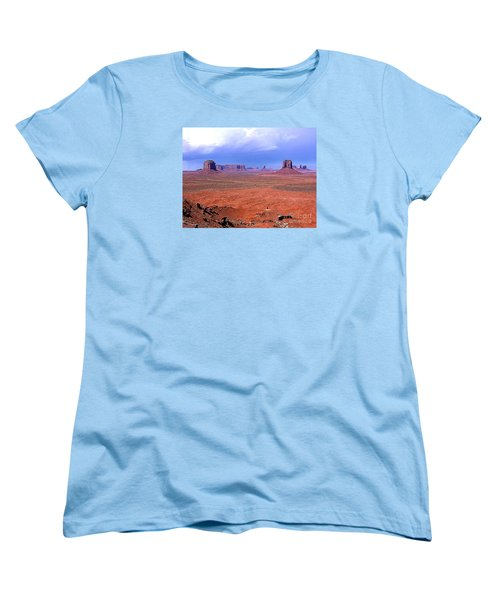 Monument Valley Panorama Landscape Women's T-Shirt (Standard Cut) by Merton Allen