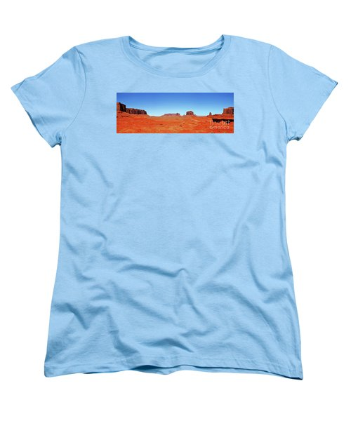 Women's T-Shirt (Standard Cut) featuring the photograph Monument Valley Two by Paul Mashburn
