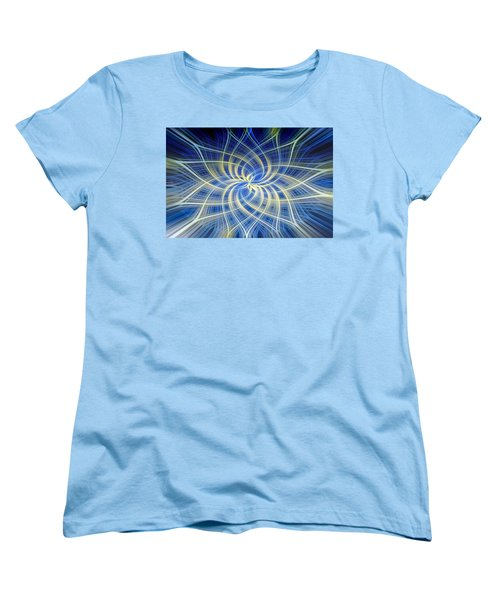 Women's T-Shirt (Standard Cut) featuring the digital art Moody Blue by Carolyn Marshall