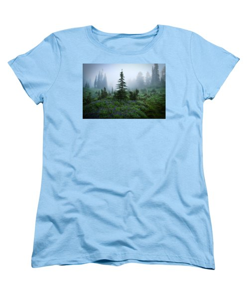 Moody Myrtle Falls Trail At Mount Rainier Women's T-Shirt (Standard Cut)