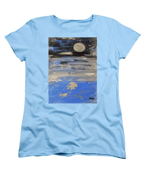 Moon In October Sky Women's T-Shirt (Standard Cut) by Mary Carol Williams