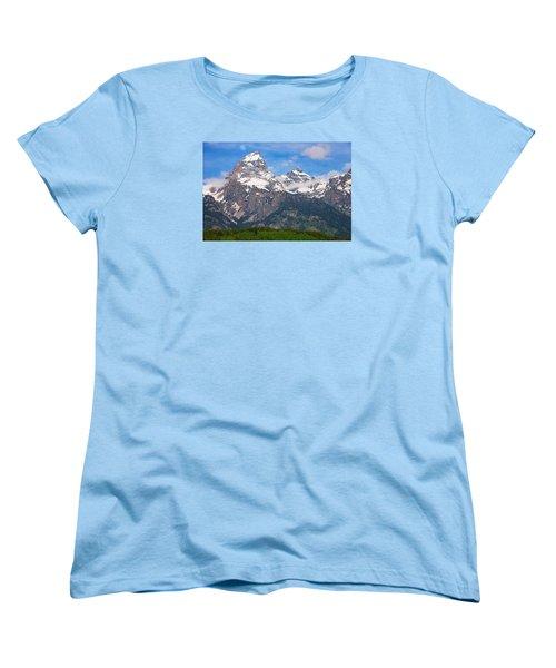 Moon Over The Tetons Women's T-Shirt (Standard Fit)