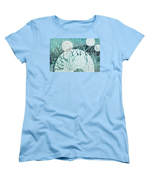 Women's T-Shirt (Standard Cut) featuring the painting Moon Shadows by Carolyn Rosenberger