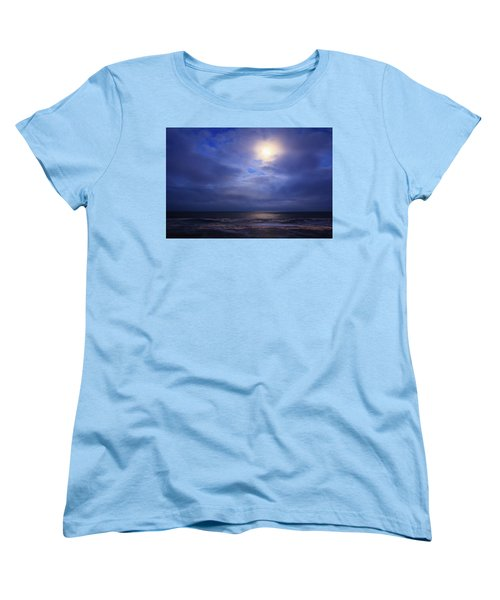 Moonlight On The Ocean At Hatteras Women's T-Shirt (Standard Cut) by Joni Eskridge