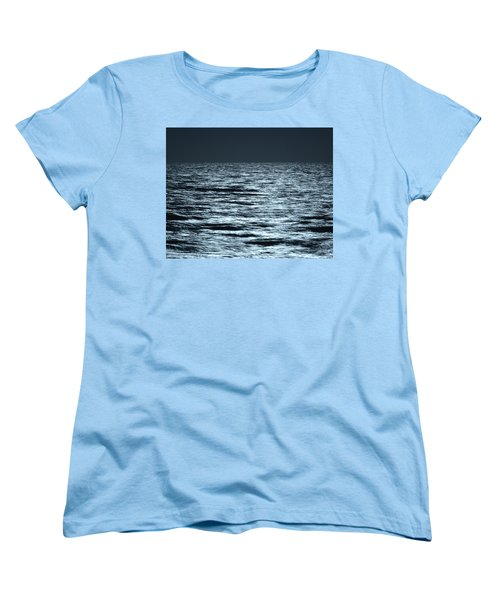 Moonlight On The Ocean Women's T-Shirt (Standard Cut) by Nancy Landry