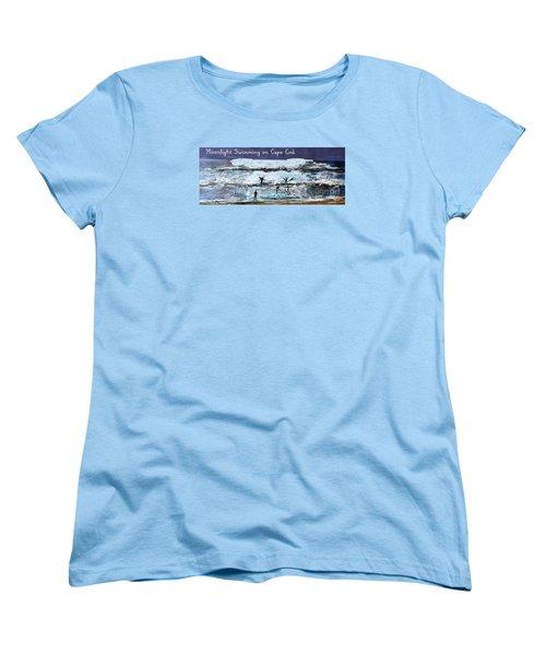 Moonlight Swimming On Cape Cod Women's T-Shirt (Standard Cut) by Rita Brown