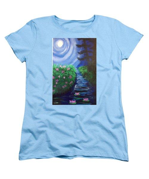 Moonlit Stream Women's T-Shirt (Standard Cut) by Diana Riukas