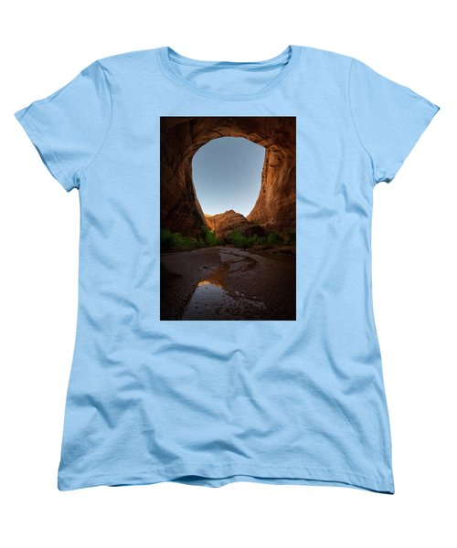 Women's T-Shirt (Standard Cut) featuring the photograph Moonrise At Coyote Gulch by Dustin LeFevre