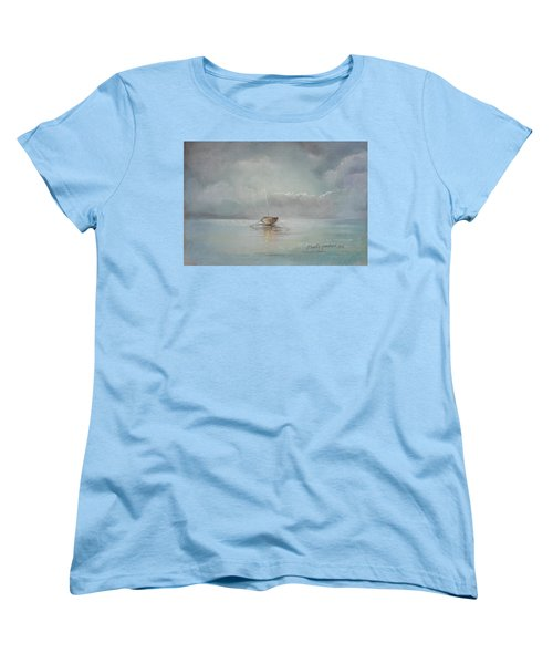 Moored Boat Women's T-Shirt (Standard Cut) by Marty Garland