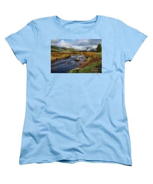 Moraine Park Morning - Rocky Mountain National Park, Colorado Women's T-Shirt (Standard Cut) by Ronda Kimbrow