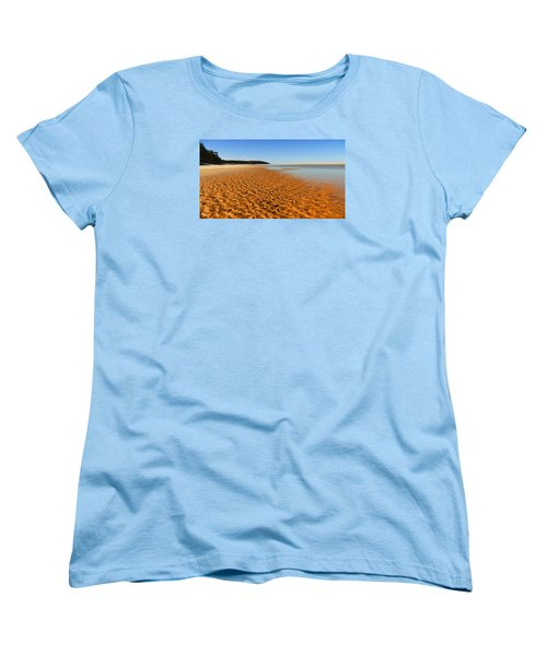 Women's T-Shirt (Standard Cut) featuring the photograph More Sand 01 by Kevin Chippindall