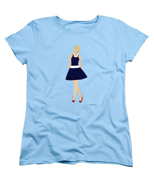 Women's T-Shirt (Standard Cut) featuring the digital art Morgan by Nancy Levan