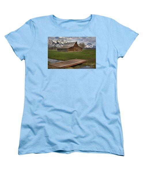 Mormon Row Water Crossing Women's T-Shirt (Standard Cut) by Adam Jewell