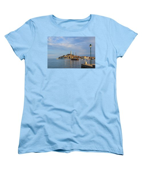 Women's T-Shirt (Standard Cut) featuring the photograph Morning Aquarelle In Rovinj by Davorin Mance