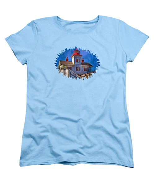 Morning At The Yaquina Bay Lighthouse Women's T-Shirt (Standard Cut) by Thom Zehrfeld