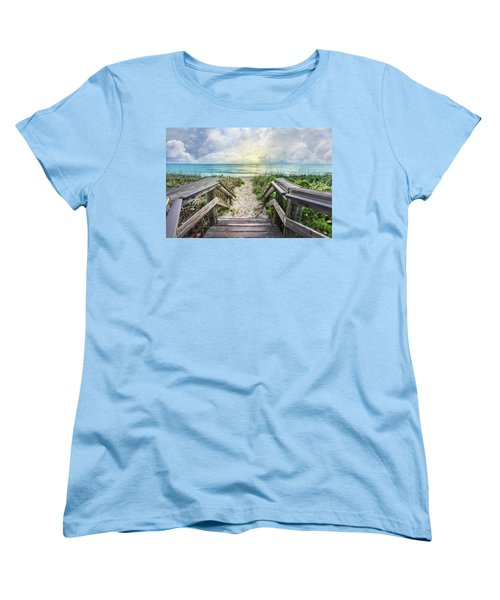 Women's T-Shirt (Standard Cut) featuring the photograph Morning Blues At The Dune by Debra and Dave Vanderlaan